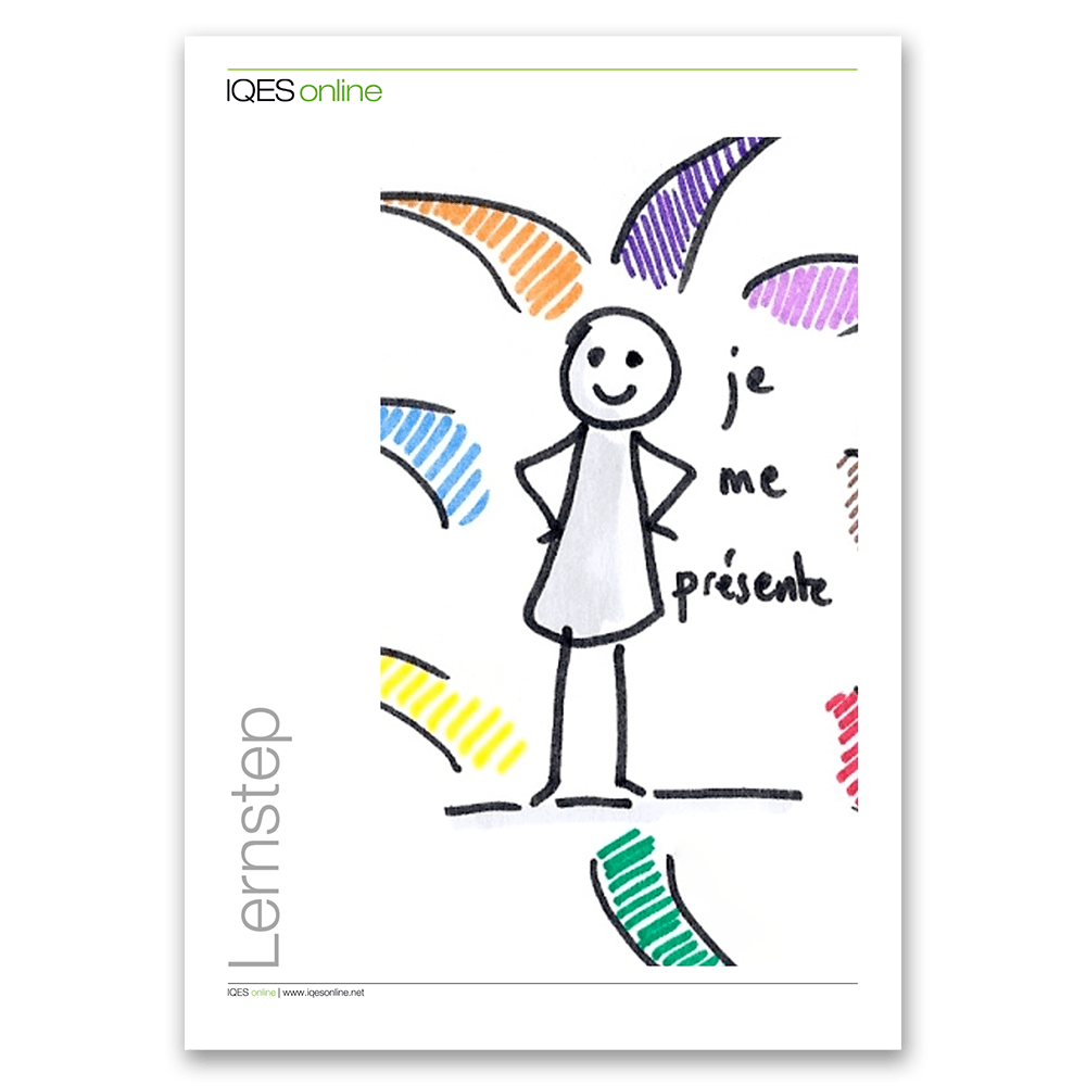 Titelseite des LernSteps se presenter