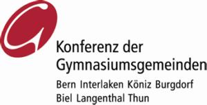 Logo Konferenz der Gymnasiumsgemeinden Bern Interlaken Köniz Burgdorf Biel Langenthal Thun