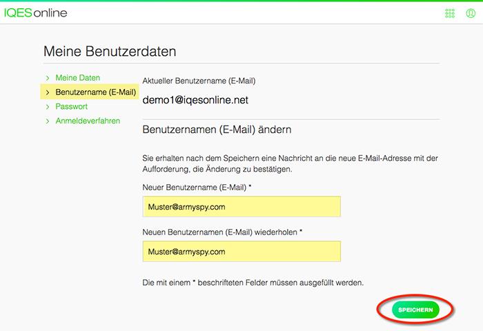 Screenshot Neue E-Mail-Adresse