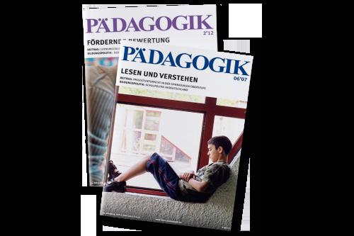 zwei Ausgaben der Zeitschriften PÄDAGOGIK
