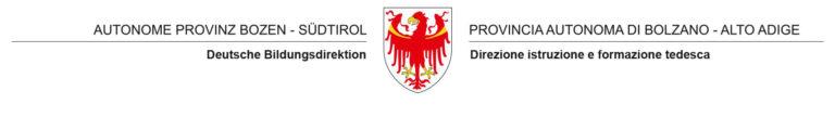 Logo Deutsche Bildungsdirektion Bildungsdirektion Autonome Provinz Bozen Südtirol