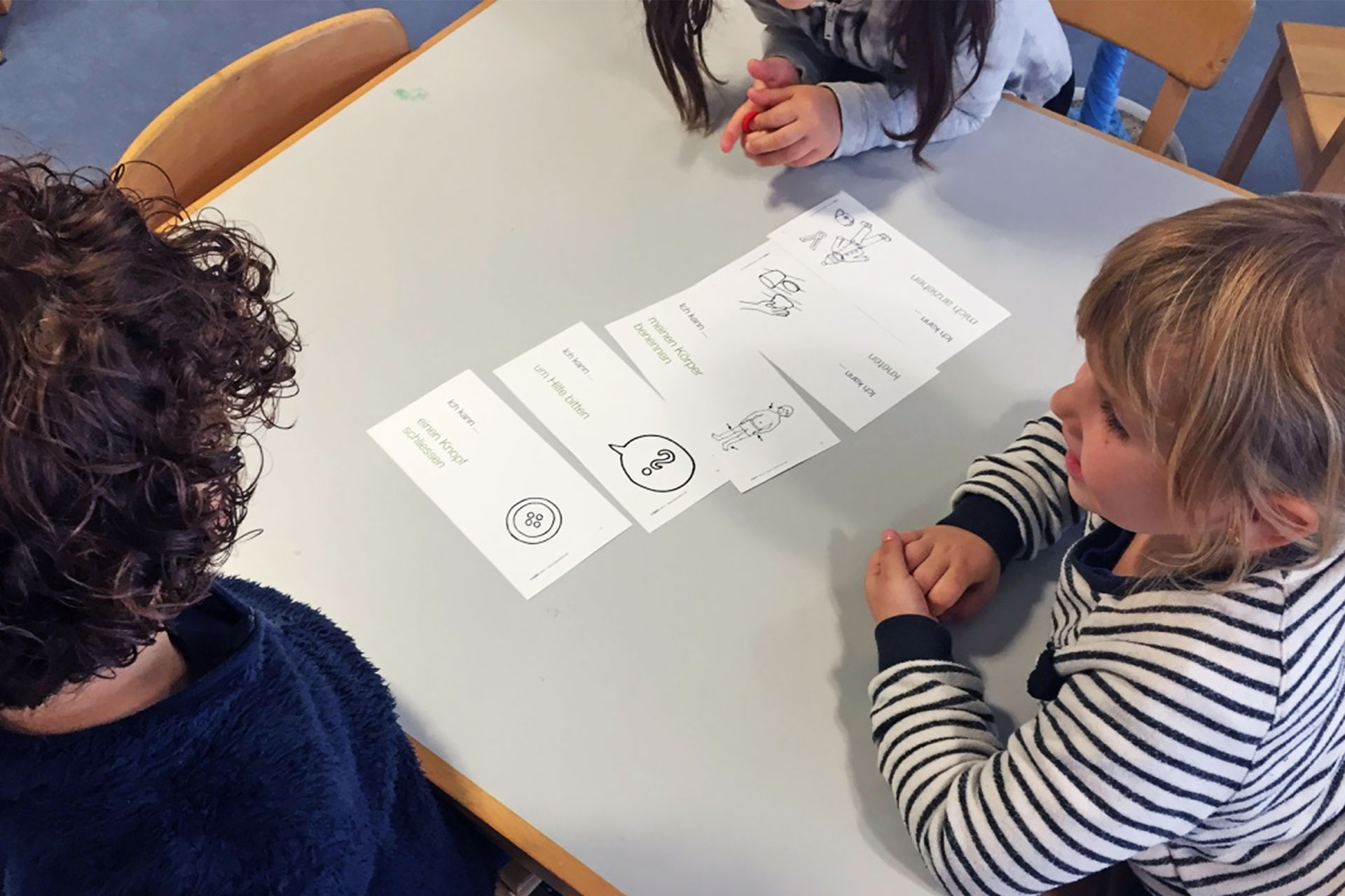 Kompetenzen üben im Kindergarten mit Hilfe von Karten