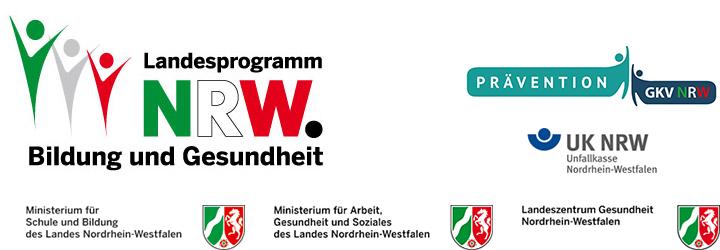 Logos Landesprogramm Bildung und Gesundheit NRW