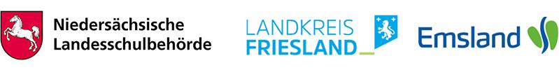 Logos Niedersachsen Landesschlubehörde, Landkreise Friesland, Osnabrück und Emsland