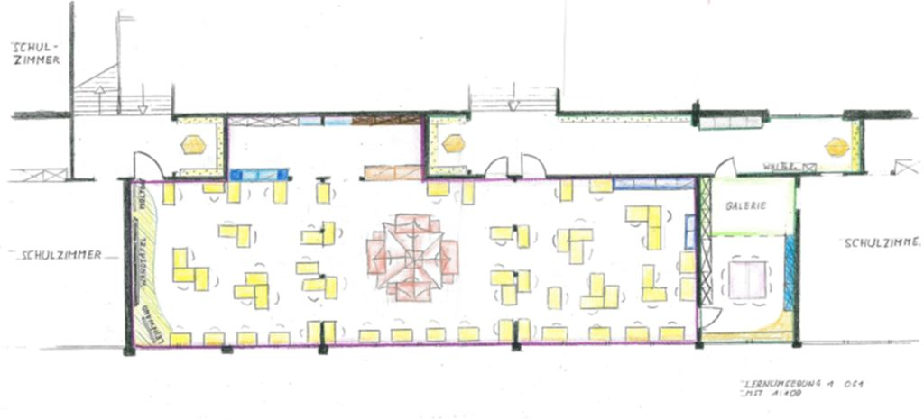 Planungsskizze des Lernbüros