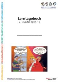 Titelseite eines Lerntagebuchs