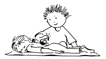 Illustration der Ballmassage