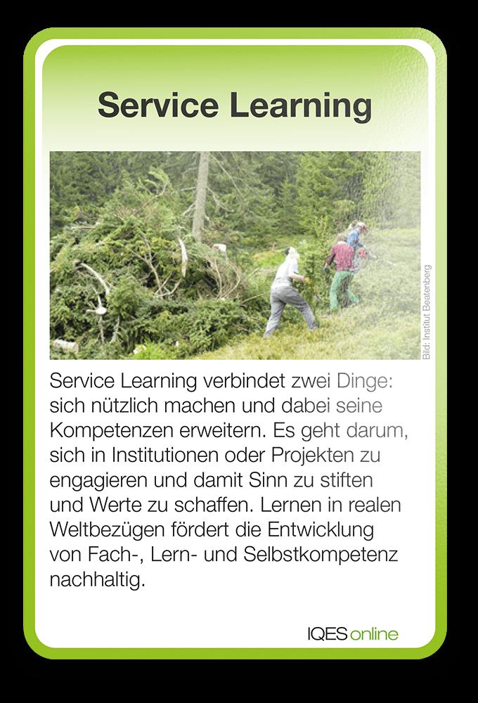Lernverständnis Karte Service Learning