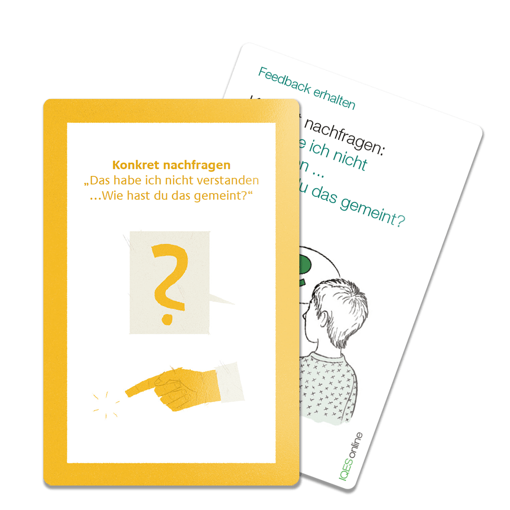Feedbackkarten-Beispiele aus dem Kartenset Kooperatives Lernen