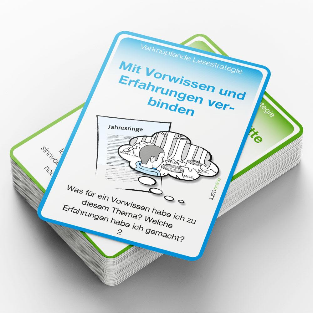 Kartenstapel Lesestrategiekarten