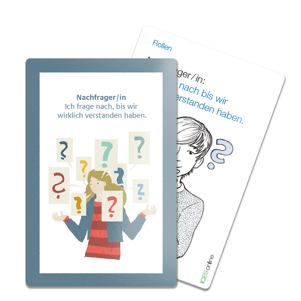 Rollenkarten-Beispiele aus dem Kartenset Kooperatives Lernen