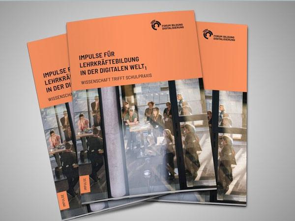 Titelseite Broschüre Impulse für Lehrkräftebildung in der digitalen Welt