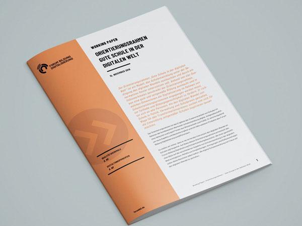 Titelseite Working Paper Orientierungsrahmen gute Schule in der digitalen Welt