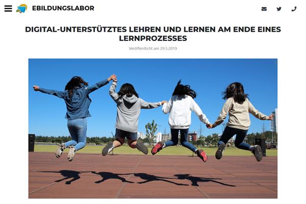 zum Blogeintrag «Digital-unterstütztes Lehren und Lernen» auf www.ebildungslabor.de