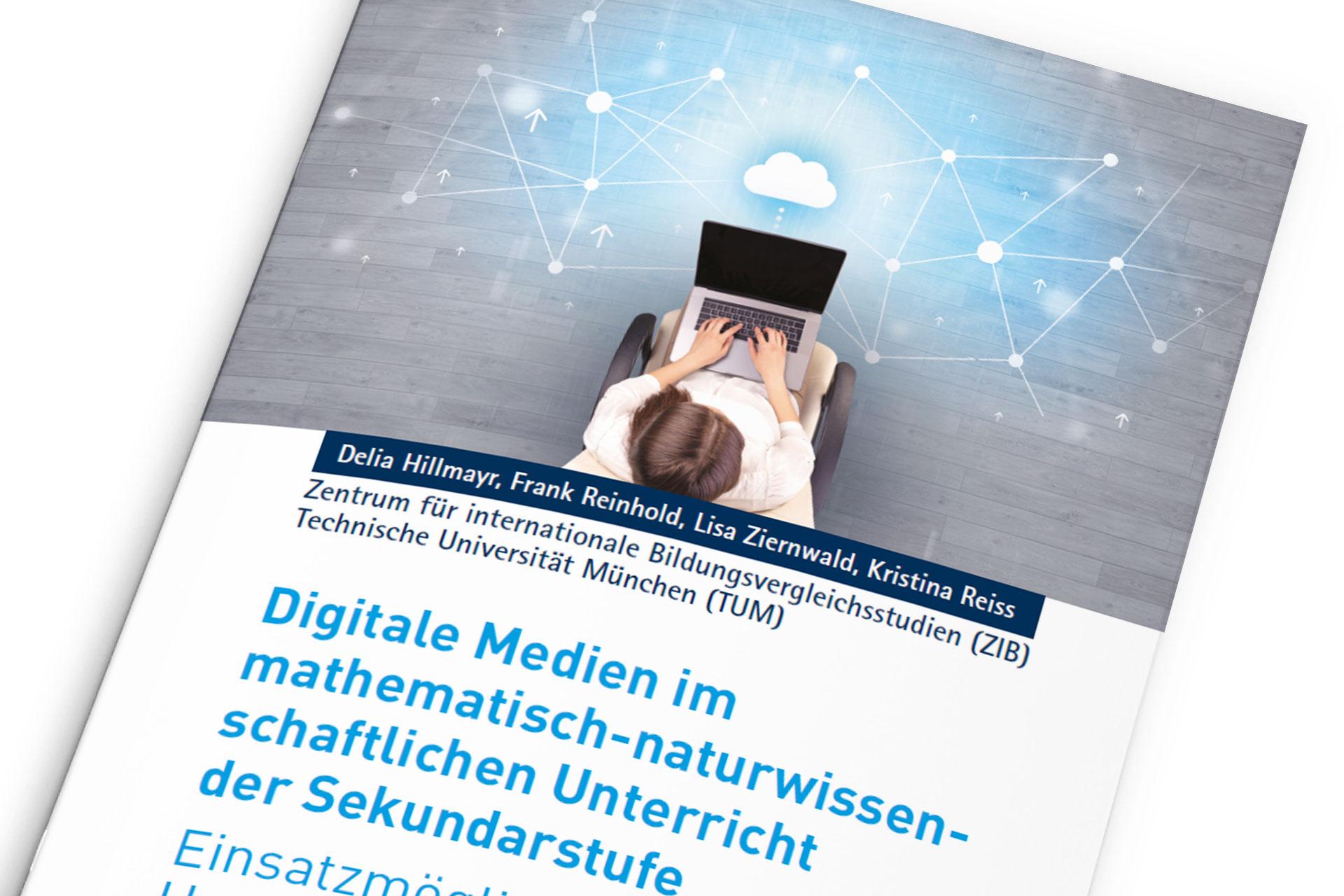 Titelseite Broschüre Digitale Medien im mathematische-naturwissenschaftlichen Unterricht der Sekundarstufe vom Zentrum für internationale Bildungsvergleichsstudien (ZIB)
