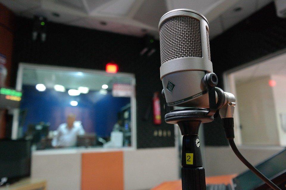 Mikrofon in einem Aufnahmestudio
