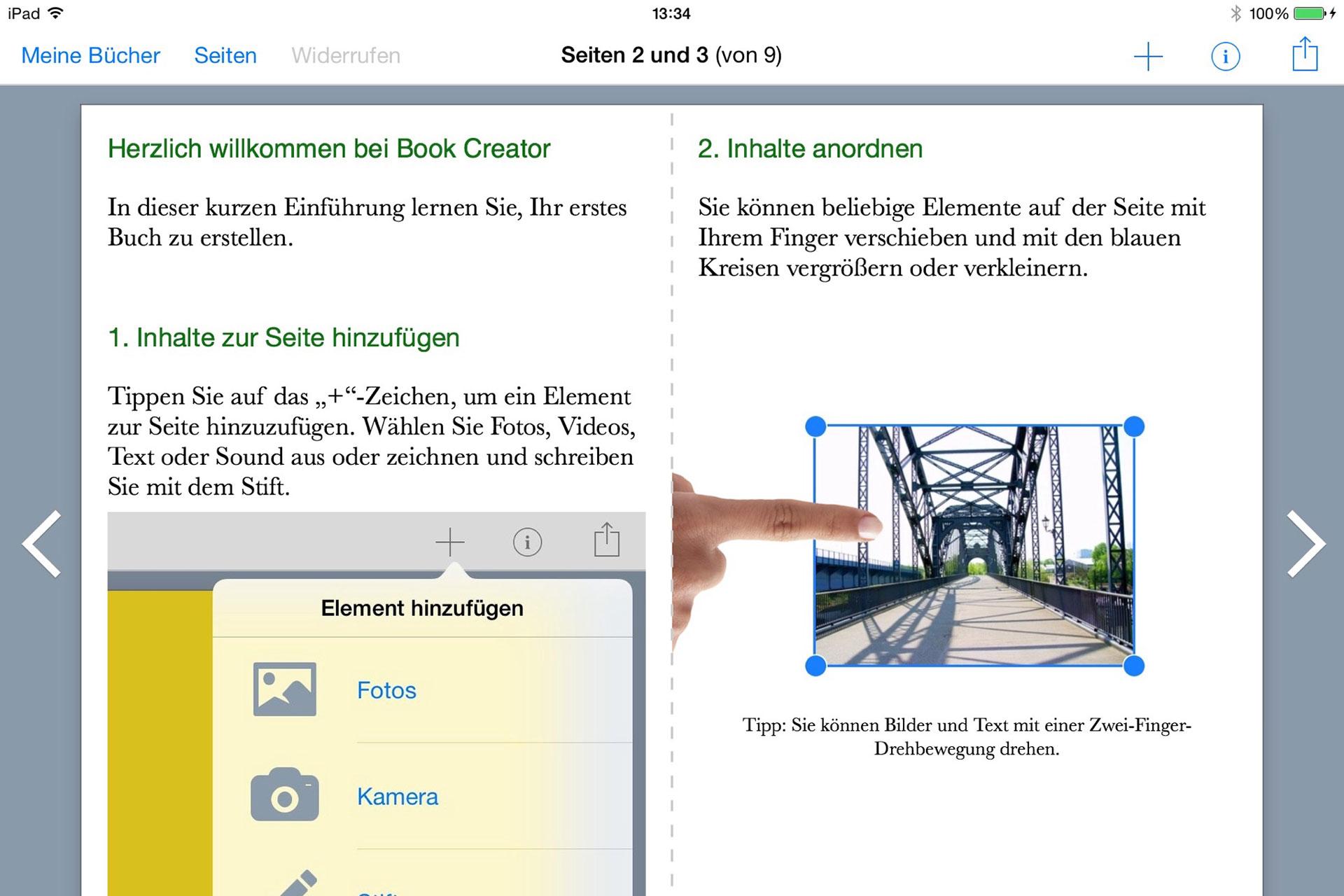Screenshot Book Creator Einführung
