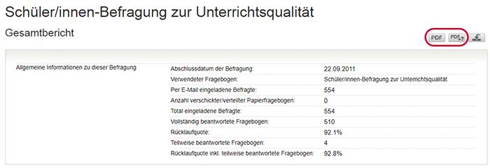 Screenshot Gesamtbericht-PDF herunterladen