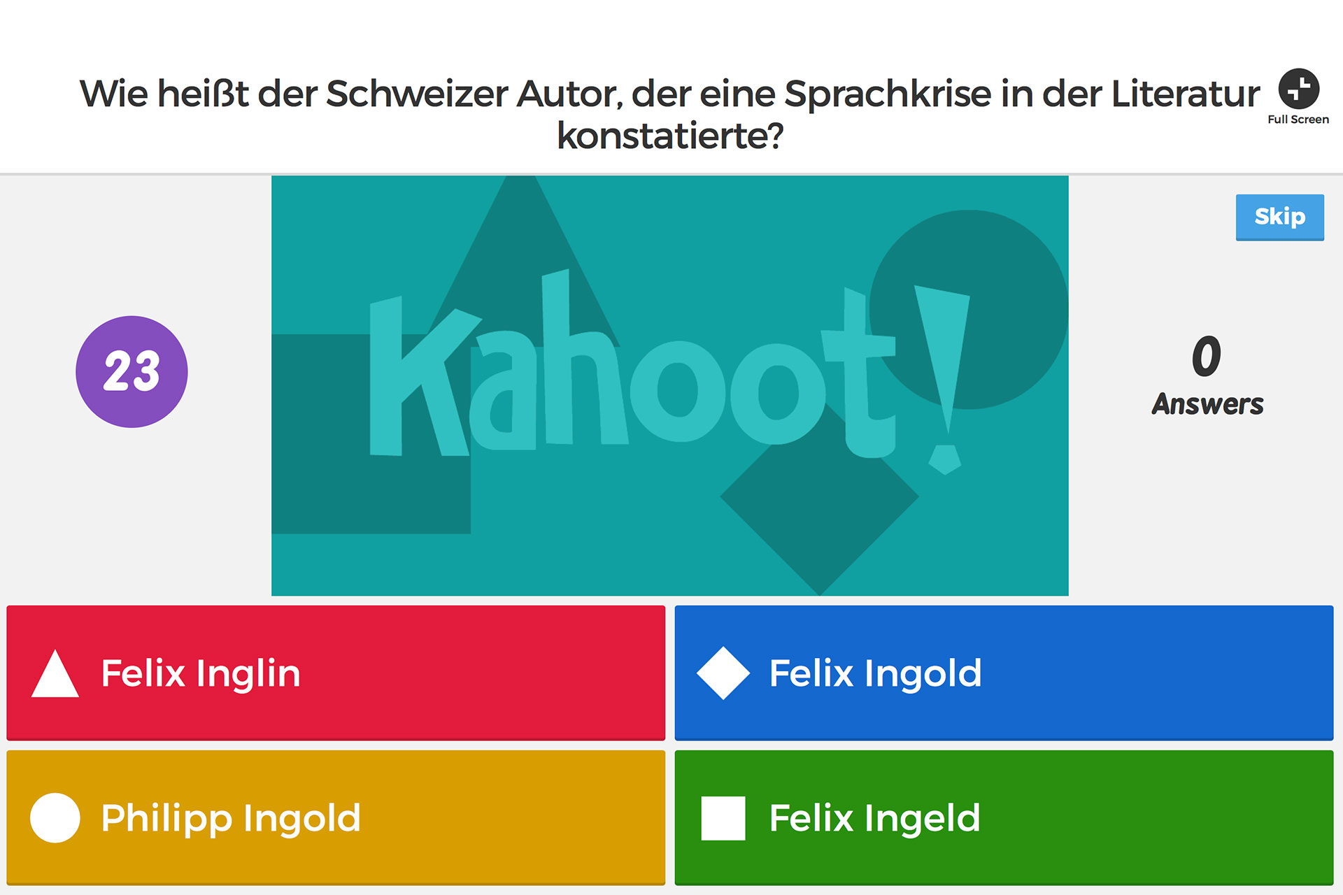 zur Appbeschreibung von Kahoot