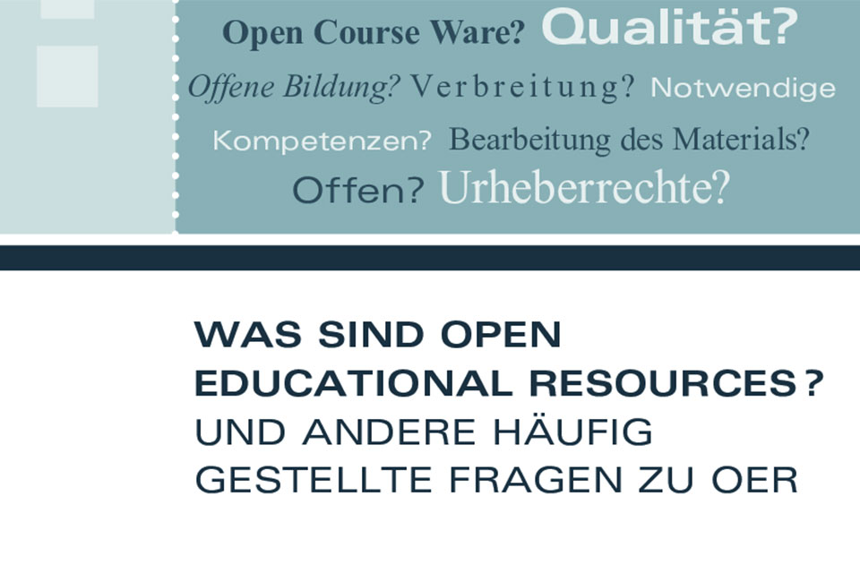 Titelseite Was sind Open Educational Resources? Unesco