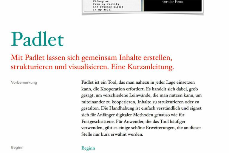 zum PDF Kurzanleitung zu Padlet