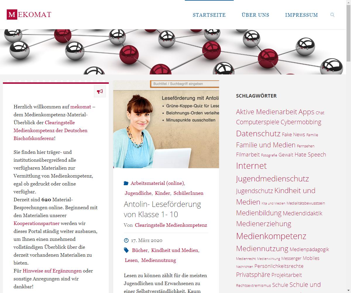 Screenshot Webseite mekomat (17.03.2020)