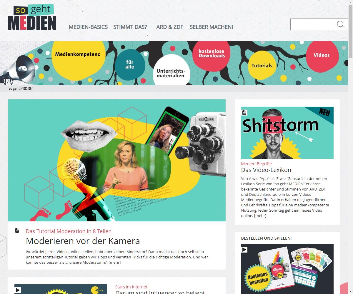 Screenshot Webseite So geht Medien (17.03.2020)