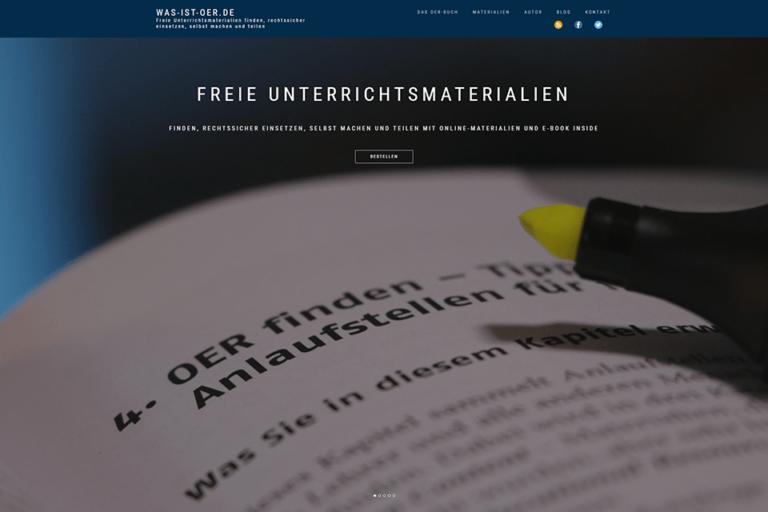 Screenshot Webseite was-ist-oer.de (26.03.2020)