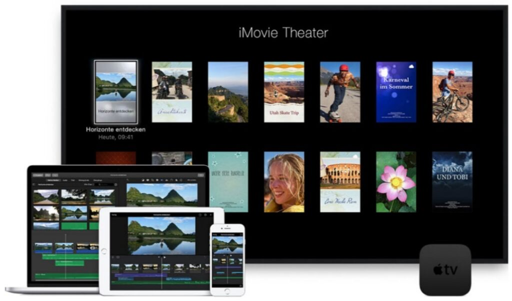 Praktisch: Nahtlose Anwendung und Synchronisation zwischen allen Apple-Geräten (Apple Werbung)