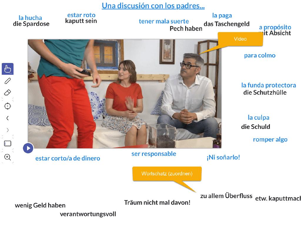 Explain Everything: Beispiel Spanisch-Wortschatz