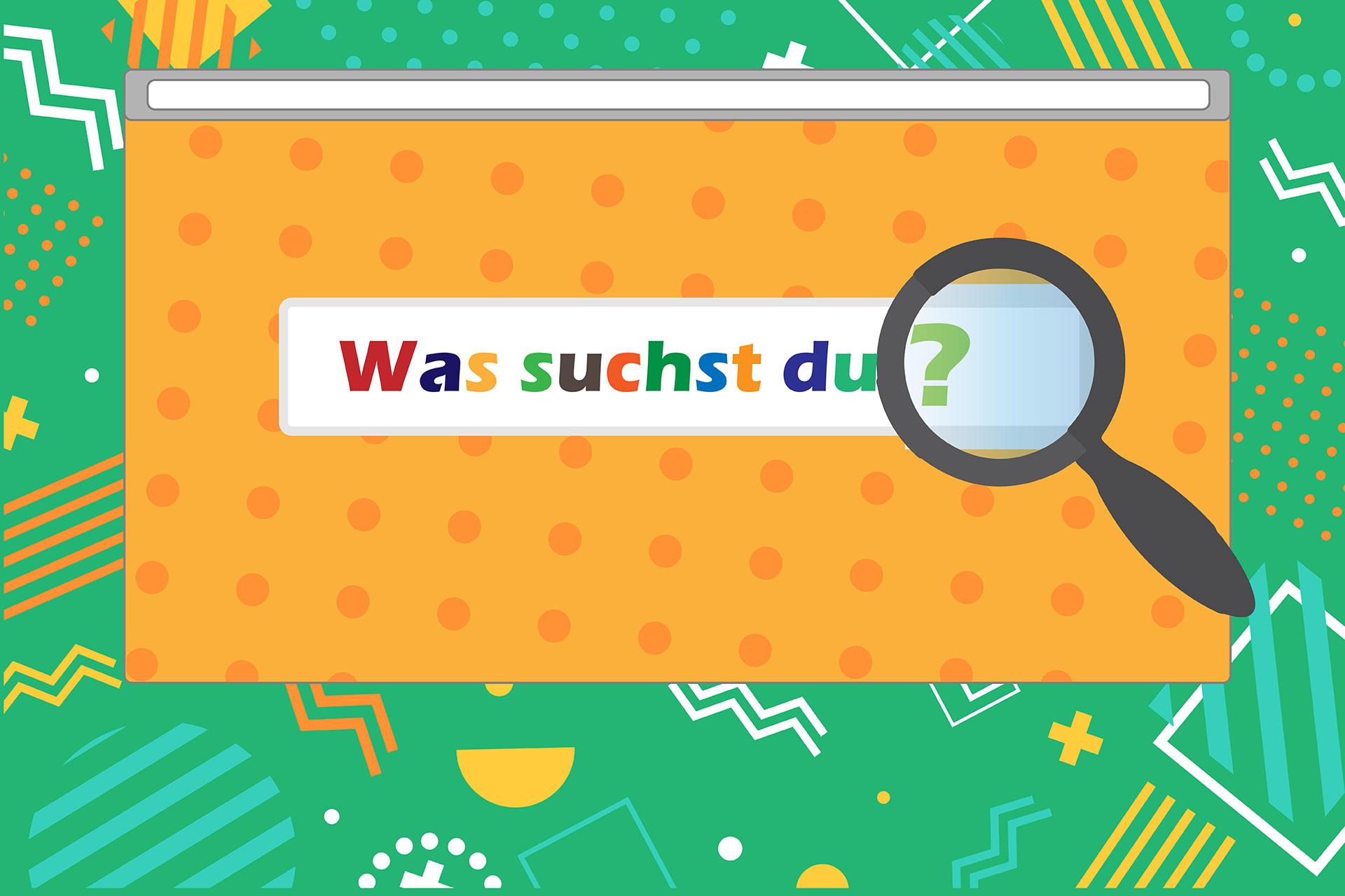 zur Beschreibung von Suchmaschinen für Kinder