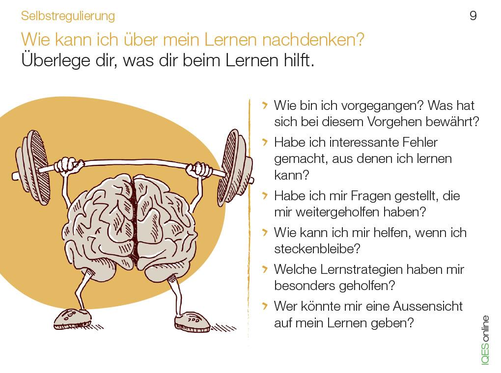 Lerncoachingkarte 9 - Wie kann ich über mein Lernen nachdenken?
