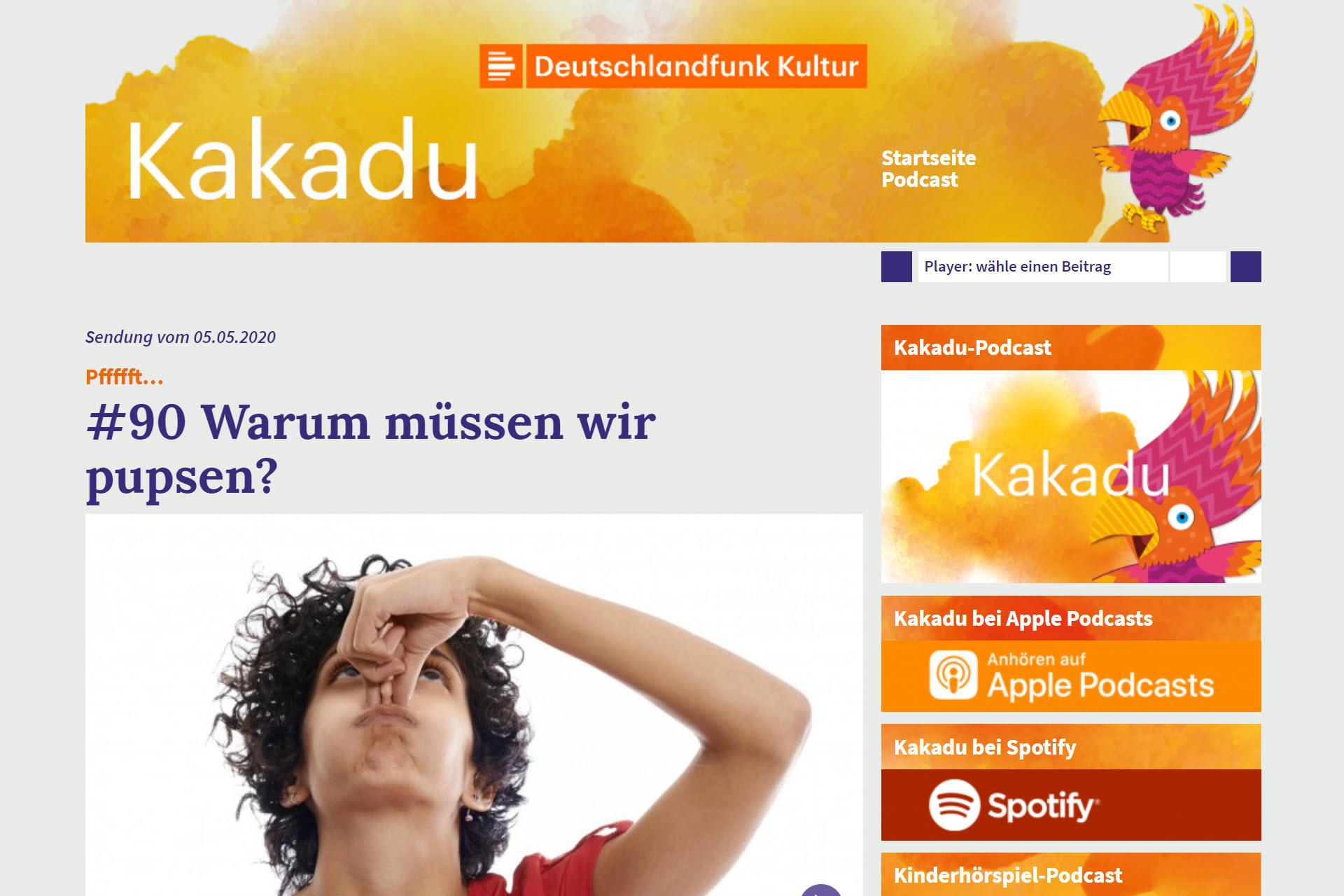 Screenshot Webseite Kakadu (06.05.2020)