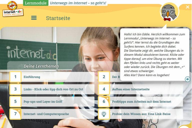 Screenshot Webseite internet-abc