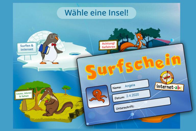 Screenshot Webseite internet-abc Surfschein