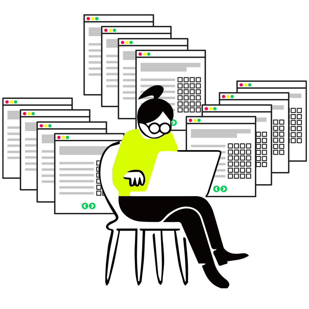 Illustration Evaluation ausfüllen