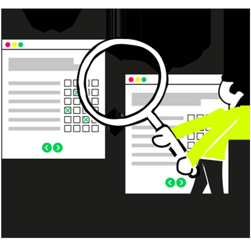 Illustration Evaluation Vergleich