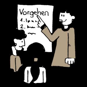 Illustration zum Thema Weiterbildung und Beratung