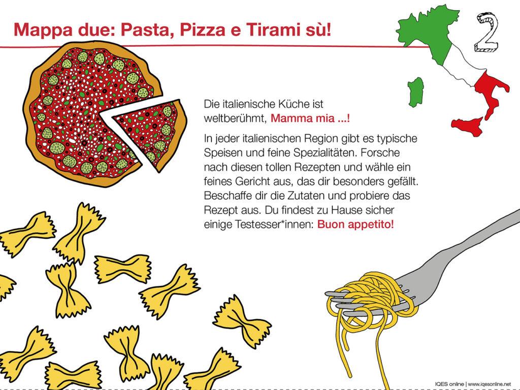 Aufgabenkarte 2 zu Bella Italia: Italienische Küche