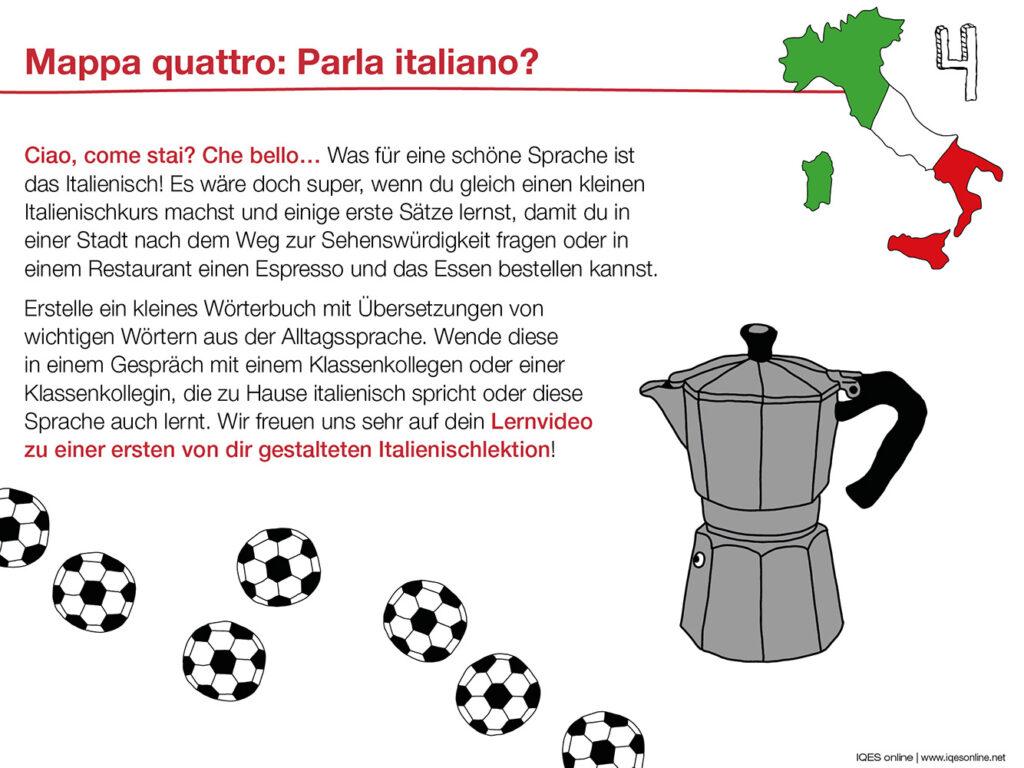 Aufgabenkarte 4 zu Bella Italia: Italienische Sprach
