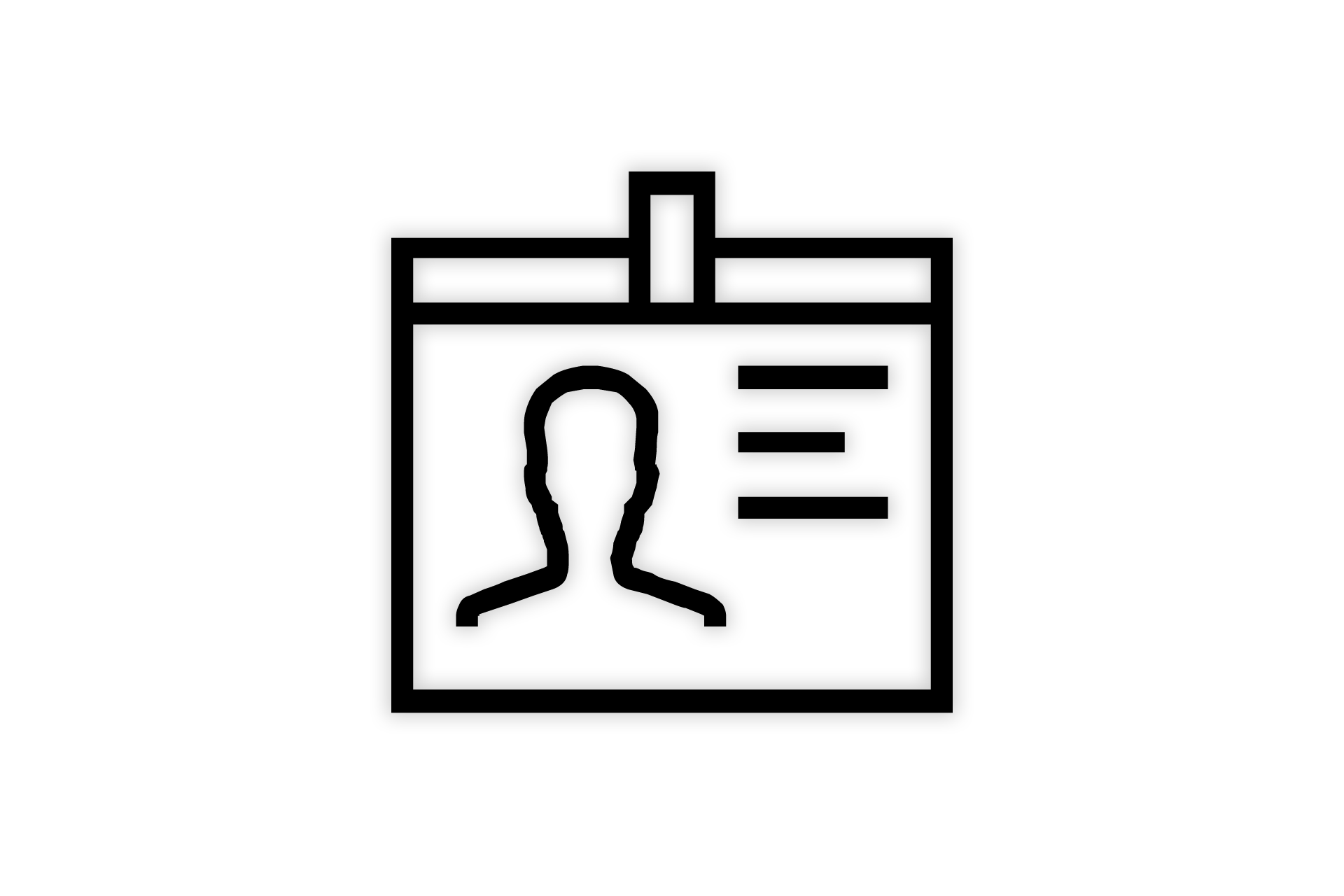 Ausweis zum Anhängen - Icon