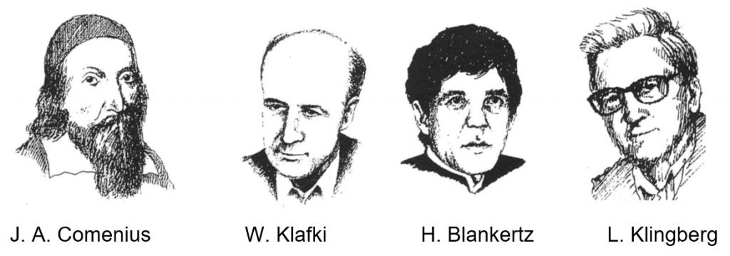 Theoretiker Comenius Klafki Blankertz Klingberg