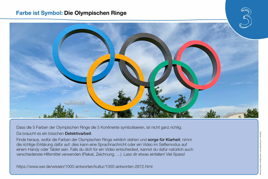 Welt der Farben Karte 3: Die Olympischen Ringe