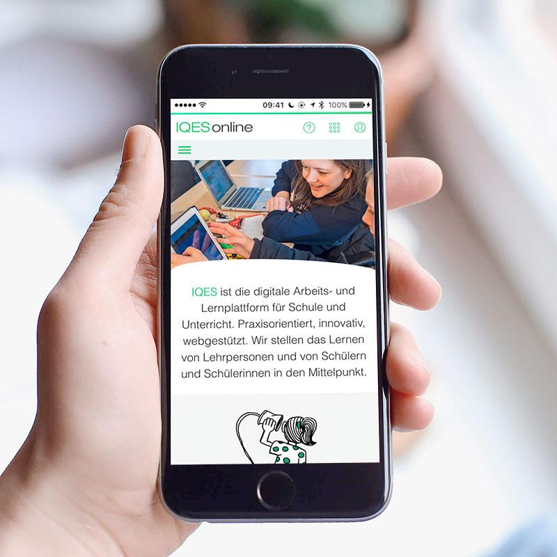 IQES Webseite Smartphone