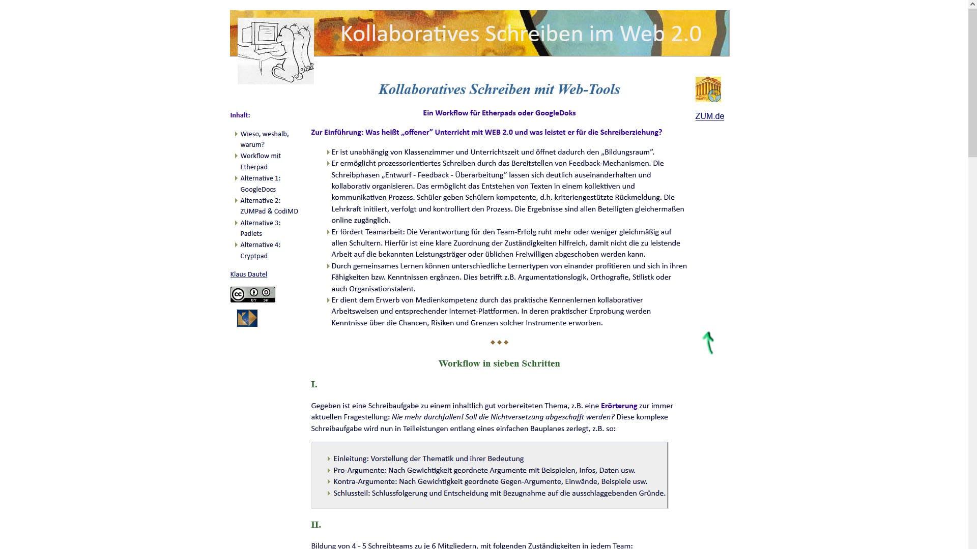 ZUM Blog Schreiben Webtools