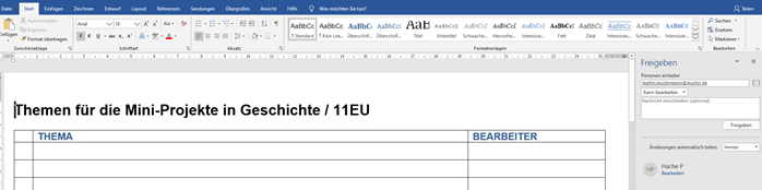 Microsoft Office Kollaboratives Lernen Beispielbild